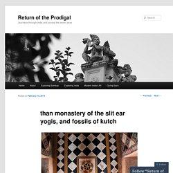 Blog : Than monastery et fossiles du kutch