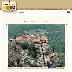 Rock and monastery, a photo from Trikala, Thessaly