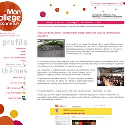MonCollege.essonne.fr au cœur d'un projet mobilisant toute la communauté éducative