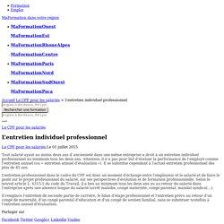 L'entretien individuel professionnel - MonCompteFormation