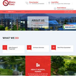 About Mondal Homes - Real Estate Developers In Durgapur