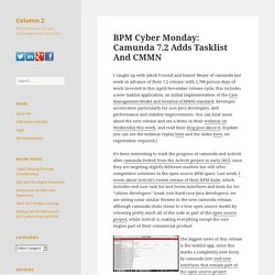 BPM Cyber Monday: Camunda 7.2 Adds Tasklist And CMMN