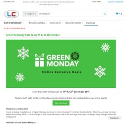 Green Monday Deals 2016, Up to 90% off at Liquidation Channel