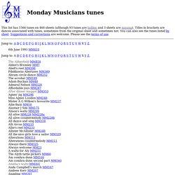 Monday Musicians tunes