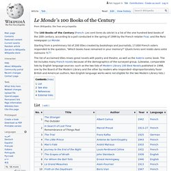 Le Monde's 100 Books of the Century - Wikipedia