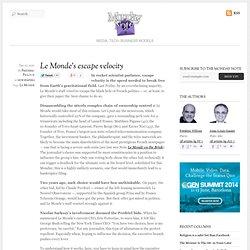 Le Monde's escape velocity