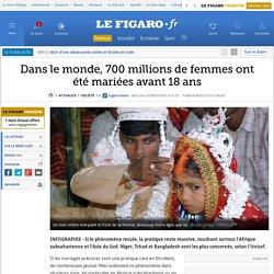 Dans le monde, 700 millions de femmes ont été mariées avant 18 ans