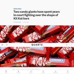 Nestlé (NSRGY) and Mondelez (MDLZ) have spent years in court fighting over the trademark of Kit Kat bars — Quartz