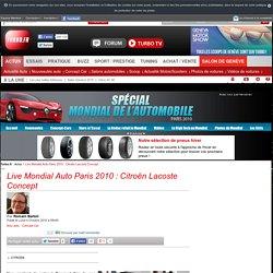 Live Mondial Auto Paris 2010 : Citroën Lacoste Concept