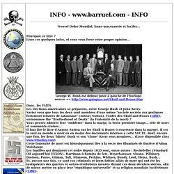 Nouvel Ordre Mondial, franc-maçonnerie et lucifer...