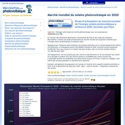 Marché mondial du solaire photovoltaique en 2020 - étude et marché du photovoltaique