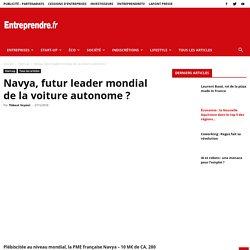 Navya, futur leader mondial de la voiture autonome?