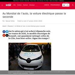 Au Mondial de l'auto, la voiture électrique passe la seconde