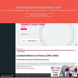 2GM - L'antisémitisme en France (1940-1944) - Cours - Fiches de révision