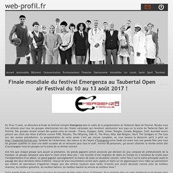 Finale mondiale du festival Emergenza au Taubertal Open air Festival du 10 au 13 août 2017 !