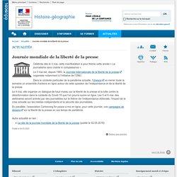 Journée mondiale de la liberté de la presse-Histoire-géographie-Éduscol