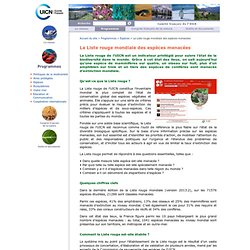 La liste mondiale des espèces menacées / L'Union Internationale pour la conservation de la nature en France