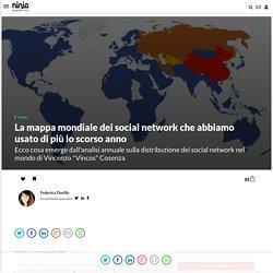 La mappa mondiale dei social network che abbiamo usato di più lo scorso anno