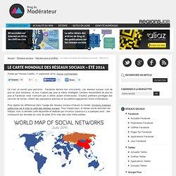 Le carte mondiale des réseaux sociaux - Été 2014