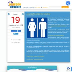 Journée Mondiale des toilettes, le 19 novembre