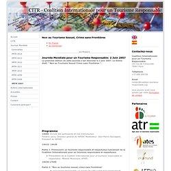 CITR - Journée Mondiale pour un Tourisme Responsable 2007