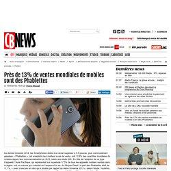 Près de 13% de ventes mondiales de mobiles sont des Phablettes