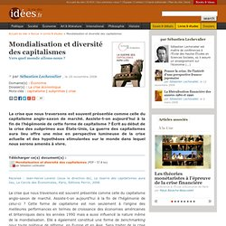 Mondialisation et diversité des capitalismes