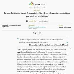 La mondialisation vue de France et des États-Unis : discussion sémantique contre débat médiatique