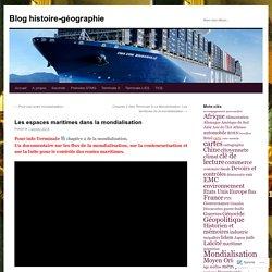 Les espaces maritimes dans la mondialisation