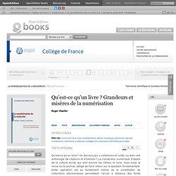 La mondialisation de la recher (...) - Qu'est-ce qu'un livre? Grande (...) - Roger Chartier