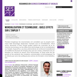 Mondialisation et technologie : quels effets sur l'emploi ?
