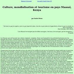 Mondialisation touristique chez les Maasaï