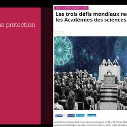 Les trois défis mondiaux reconnus par les Académies des sciences du G7