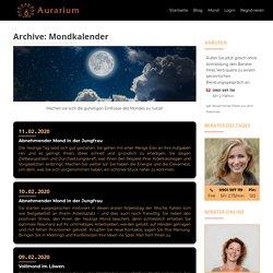 Moon Phases Mondkalender 2020 - AURARIUM