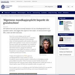 'Algemene mondkapjesplicht beperkt de grondrechten'