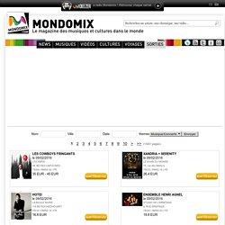 Agenda Mondomix des concerts et festivals, semaine du 10 au 16 mars 2012 - Mondomix
