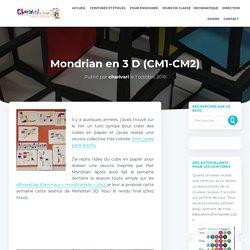 Mondrian en 3 D (CM1-CM2)