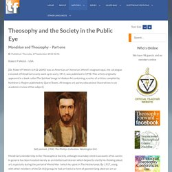 Mondrian and Theosophy – Part one