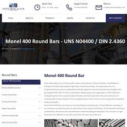 Monel 400 Round Bar - Exotic Metal Alloys