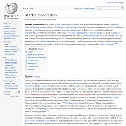 Market monetarism - Wikipedia, the free encyclopedia