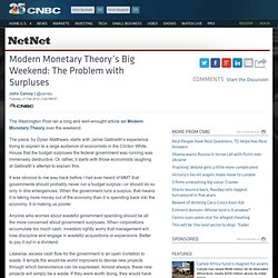 Modern Monetary Theory's Big Weekend: The Problem with Surpluses  - US News Business Blog