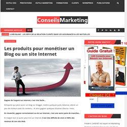 Les produits pour monétiser un Blog ou un site Internet