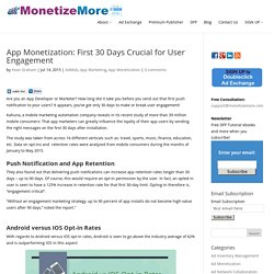 App Monetization: First 30 Days Crucial for User Engagement - MonetizeMore