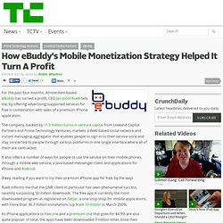 How eBuddy's Mobile Monetization Strategy Helped It Turn A Profi