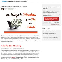 24 Ways to Monetize your Blog or Website - Join Reachli for the easiest way to market your visual content across the web