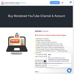 Buy Monetized Youtube Channel & High-Quality Account