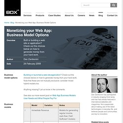 Monetizing your Web App: Business Model Options | Our Blog | Box UK