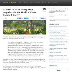 """""""I Want to Make Money From Anywhere in the World – Where Should I Start?"""""""