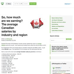 How much money are we earning? The average Canadian wages right now