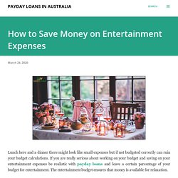 How to Save Money on Entertainment Expenses